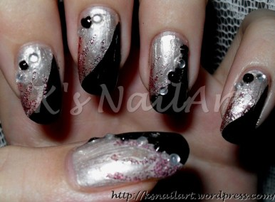 Black and white rhinestones