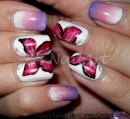 Butterfly Nail Art (Matchy mani)