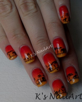 wild-safari-sunset-nails